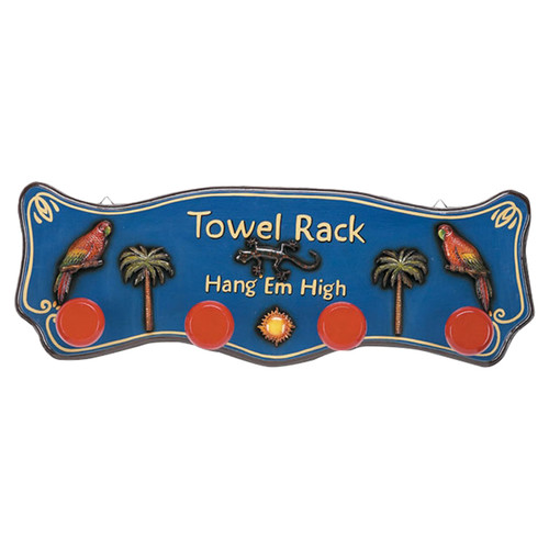 RAM Game Room Outdoor Hang'em High Tropical Towel Rack