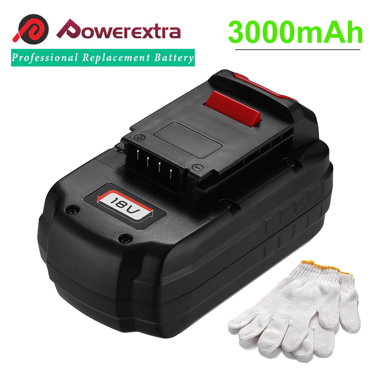 Powerextra 3000mAh 18V Replacement Battery for Porter Cable PC18B Power Tools Ni-CD... by