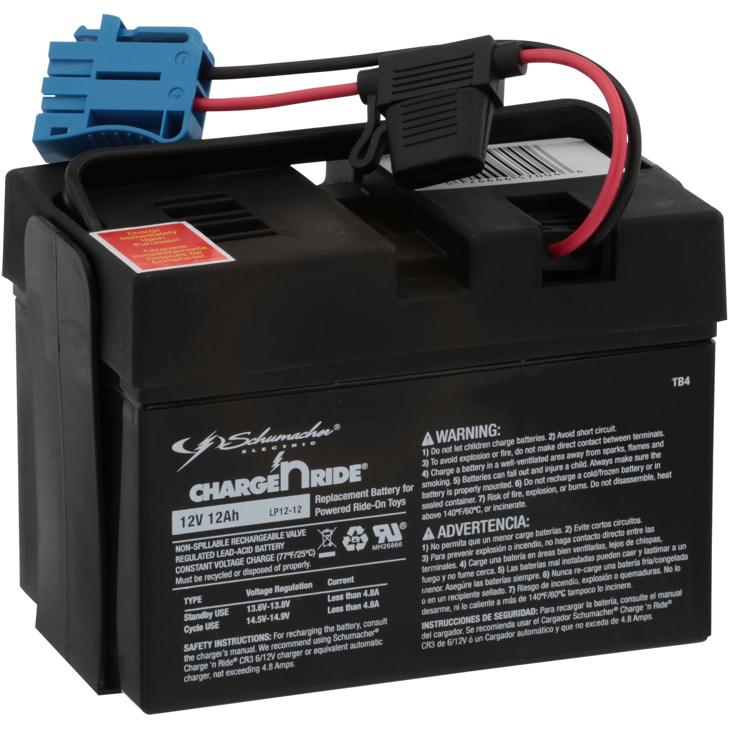 Schumacher® Charge n Ride® TB4 Rechargeable Replacement Battery