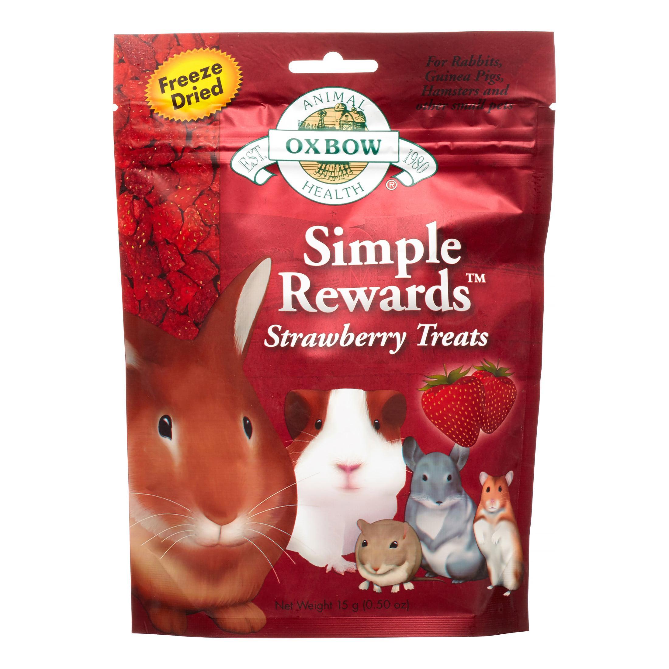 Oxbow Simple Rewards Strawberry Treats for Small Animals, 0.5 oz.