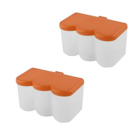 Kitchen Plastic Spices Container Box Condiment Dispenser Holder Orange 2pcs - image 3 of 3