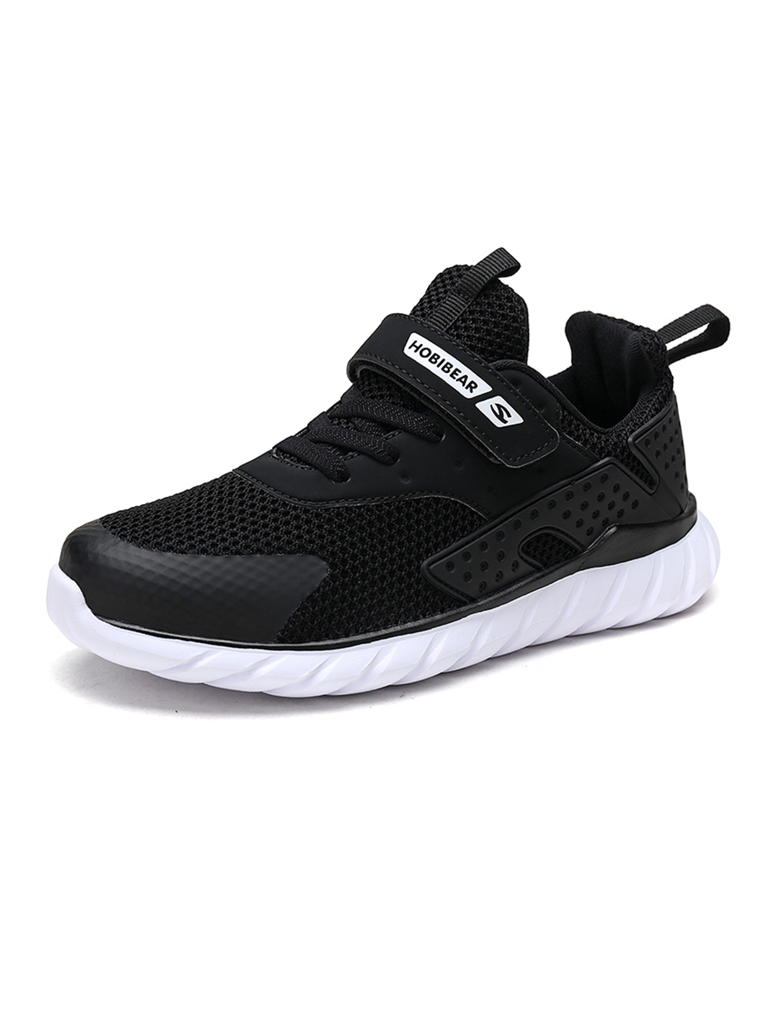 OwnShoe Kids' Sneakers Hook and Loop Low Top Tennis Shoes for Boys and Girls