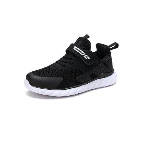 Kids' Sneakers Hook and Loop Low Top Tennis Shoes for Boys and