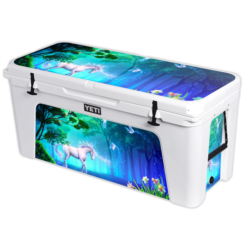 MightySkins Protective Vinyl Skin Decal for YETI Tundra 160 qt Cooler wrap cover sticker skins Unicorn Fantasy