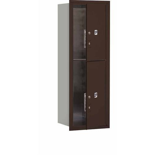 """Salsbury Industries 4C Horizontal Mailbox 11-Door High Unit (41""""), Single Column, Stand-Alone Parcel Locker-1 PL5 and 1 PL6, Aluminum, Front Load, Private Access"""