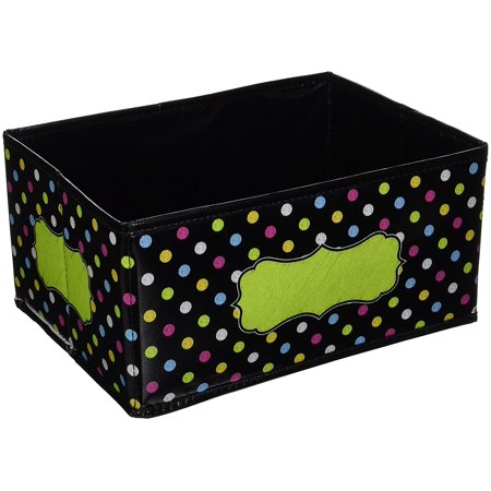 Chalkboard Brights Small Storage Bin, The write-on/wipe-off surface is easy to clean and perfect for labeling By Teacher Created - Teacher Supply Store Houston