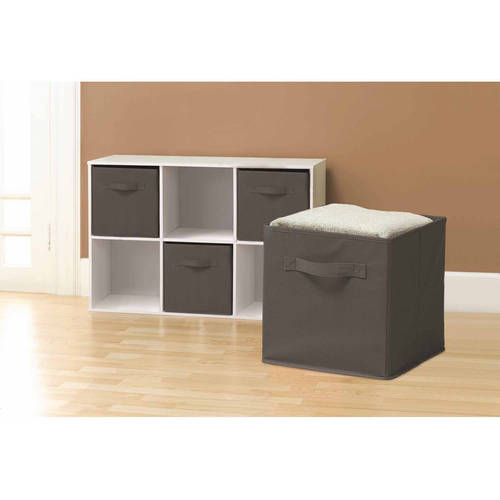 Sorbus Foldable Storage Cube Basket Bin 6pk Gray