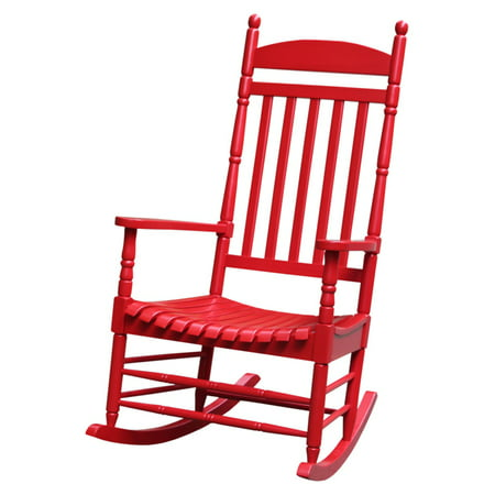 International Concepts Porch Rocker, Turned Post, Solid Wood, Red
