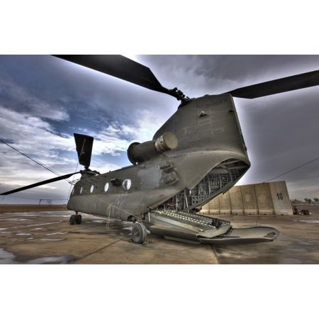 High dynamic range image of a CH-47 Chinook helicopter Poster Print