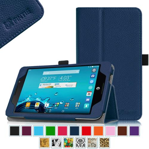 AT&T ASUS MeMo Pad 7 LTE GoPhone Prepaid Tablet Case - Fintie Folio  Smart Cover with Auto Sleep / Wake Feature, Navy