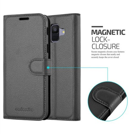 Cadorabo Case for Samsung Galaxy A6 2018 cover - Book Case with Magnetic Closure, Stand Function, and Card Slot - image 5 of 5