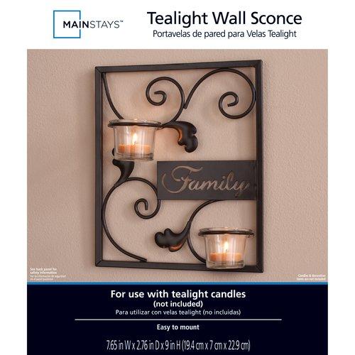 Mainstays 2-Lite Inspirational Wall Sconce Candleholder