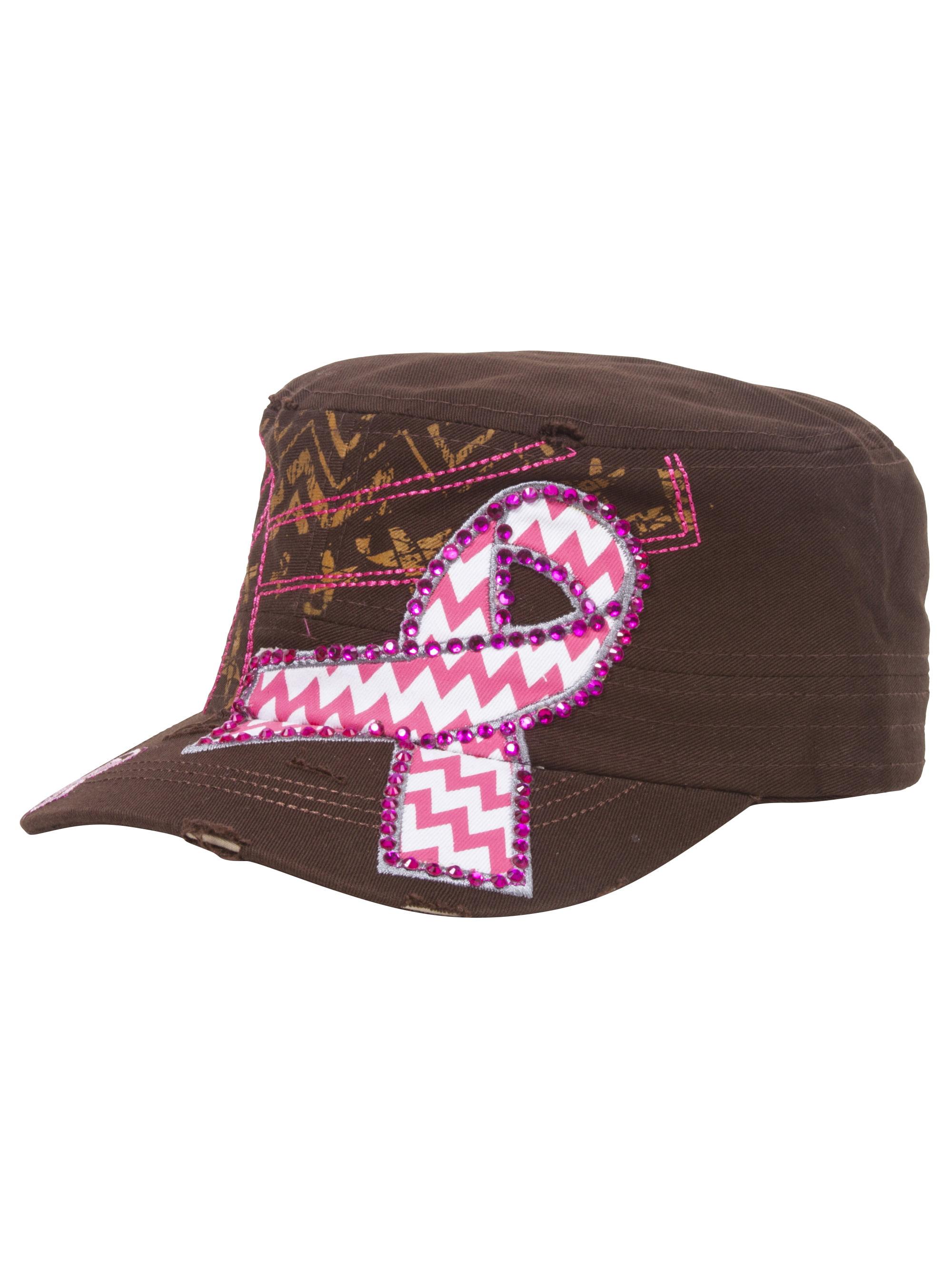 Top Headwear Pink Chevron Ribbon Distressed Cadet Cap - Camo 619d8aacc31