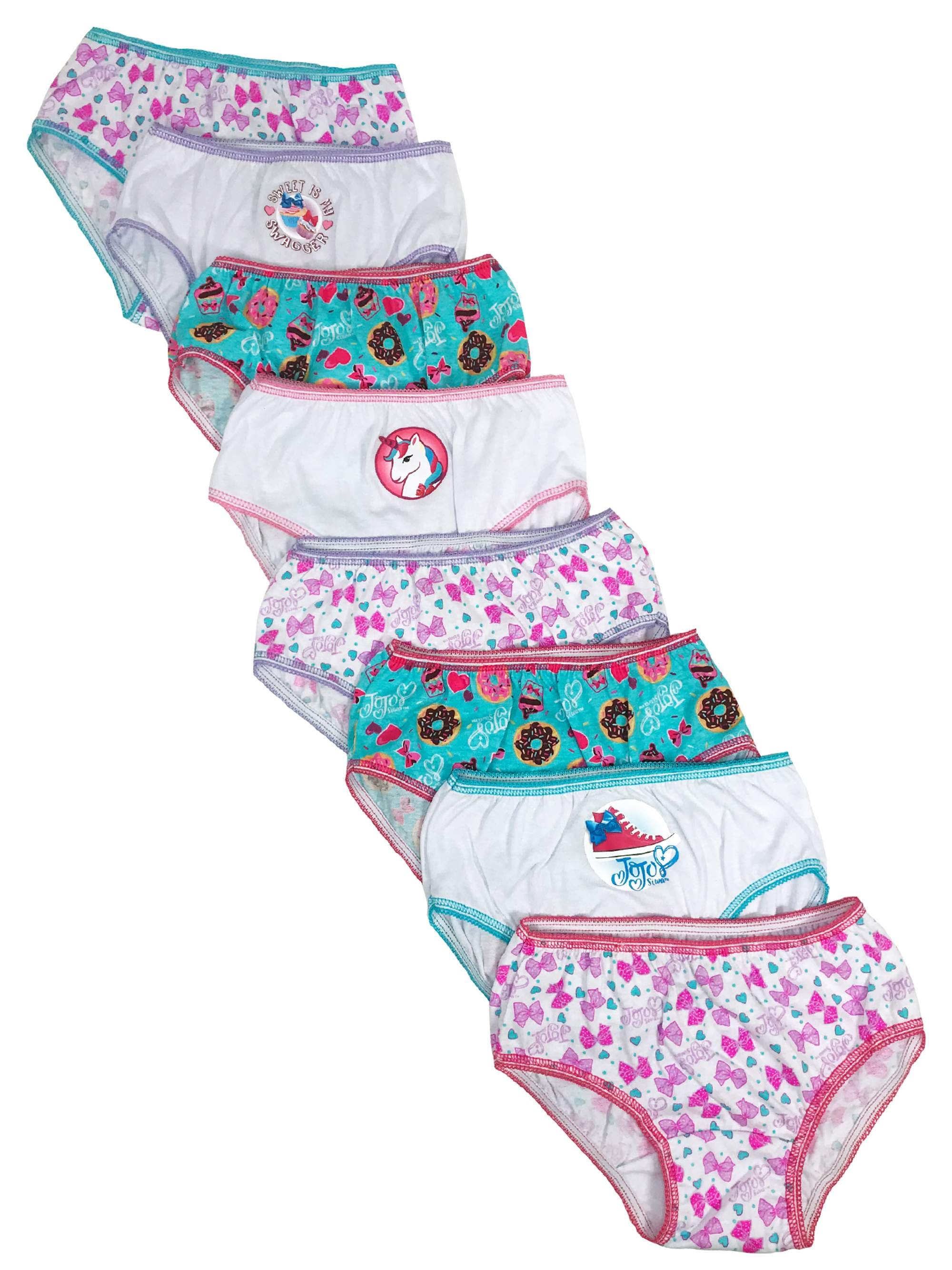 Girls Character 8 Pack Underwear