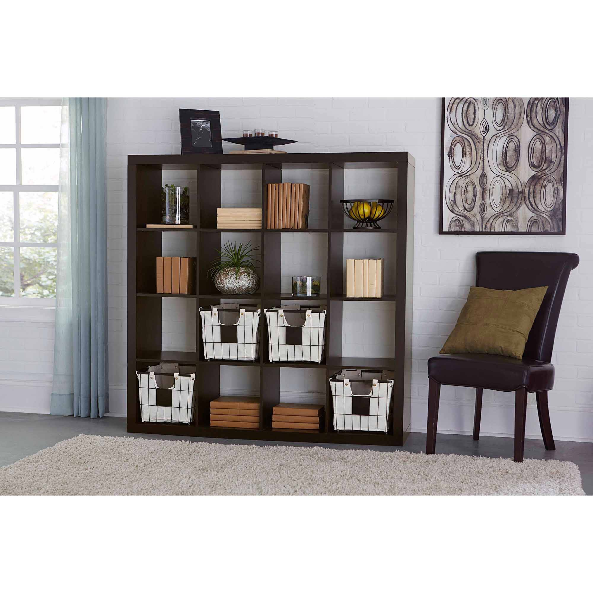 Great Better Homes And Gardens 16 Cube Storage Organizer, Multiple Colors    Walmart.com