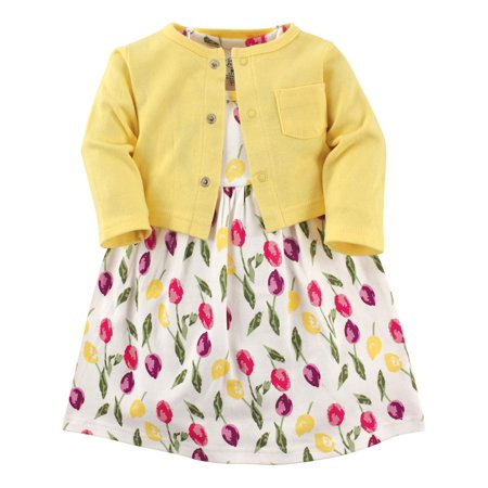 Dress and Cardigan Set (Toddler Girls)