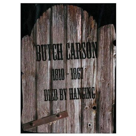 Fun World 91052B Halloween Butch Carson Tombstone, Multicolor - Tombstone Quotes Halloween