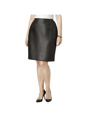2672e73b01 Product Image Kasper Womens Plus Jacquard Lined Pencil Skirt
