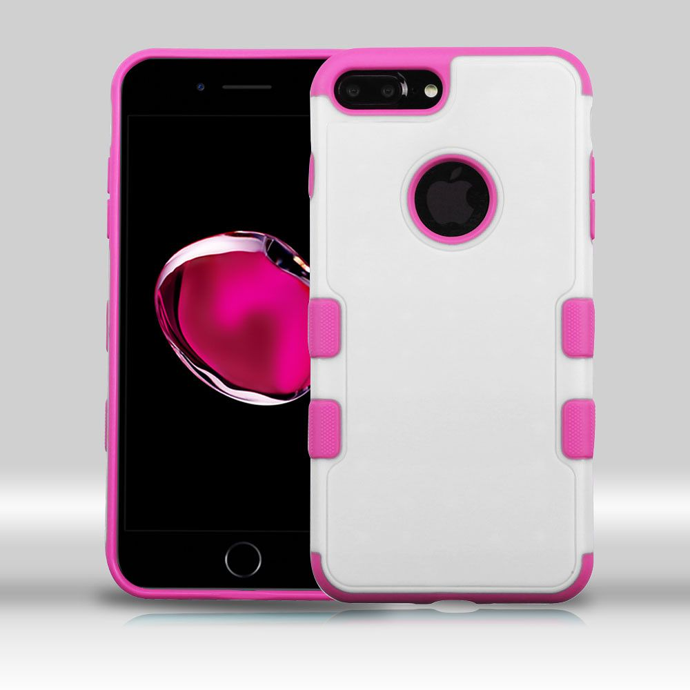 Insten Hard TPU Cover Case for Apple iPhone 7 Plus - White/Hot Pink - image 3 de 3
