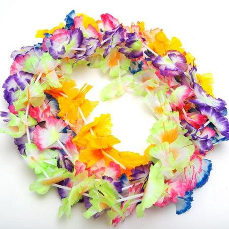12 Hawaiian Luau Jumbo Silk Flower Leis Tropical Party, Polyester Jumbo carnation leis By Fun - Carnation Leis