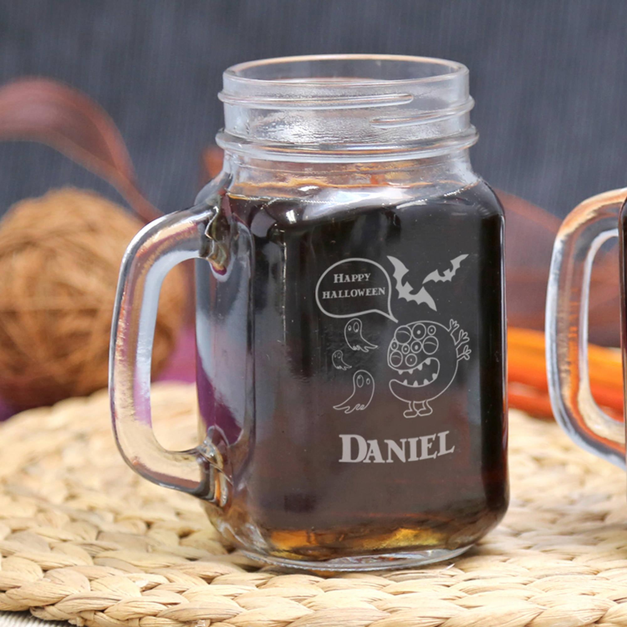Personalized Halloween Glass Jar, Holds, 15 oz