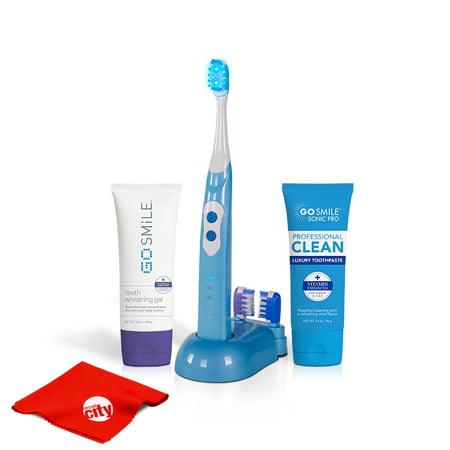 Go Smile Pro Teeth Whitening Kit UV Sonic Toothbrush Dental Care System (Aqua
