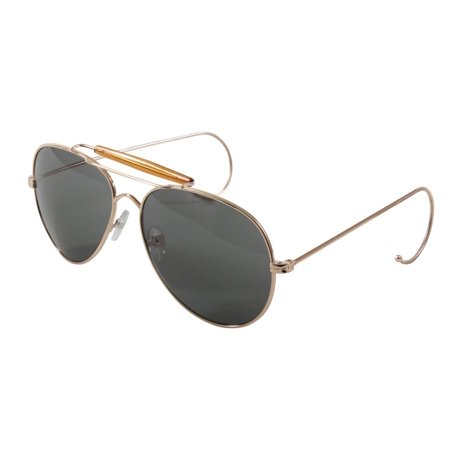 G.I. Type A.F. Pilots Sunglasses with Gold (Where Can I Buy Reader Sunglasses)