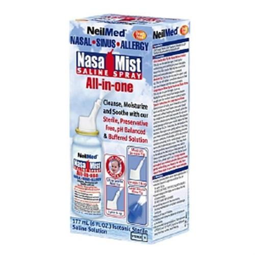 NeilMed NasaMist Saline Spray 6 oz (Pack of 6)