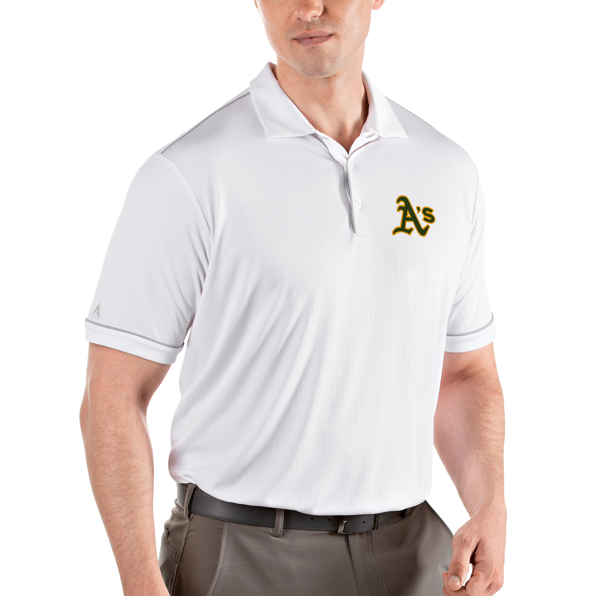 Oakland Athletics Antigua Salute Polo - White/Gray
