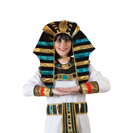 Pharaoh Egyptian God Headpiece Cleopatra King Tut Halloween Costume Accessory - Pharaoh Accessories