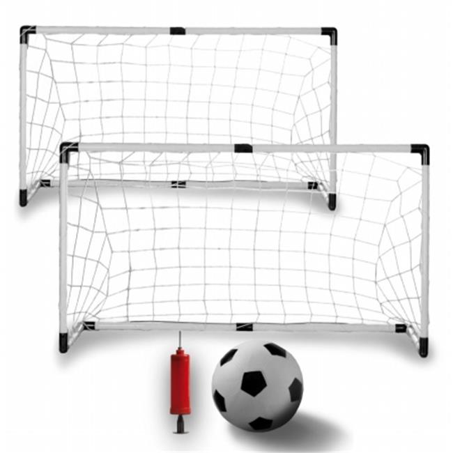K-Roo Sports SSCR-101 Set of Two Youth Soccer Goals with Soccer Ball and Pump