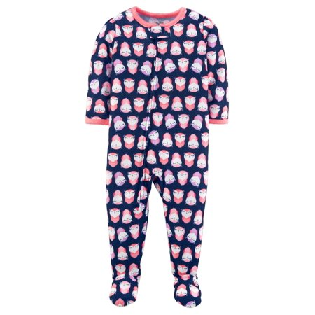 ae86f1da1ce6 Child of Mine by Carter s - Baby Girl One Piece Footed Pajamas ...