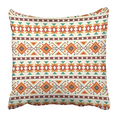 ECCOT Native Ethnic Design Abstract American Aztec Folkloric Geometric Geometry Pillowcase Pillow Cover 20x20 inch ()