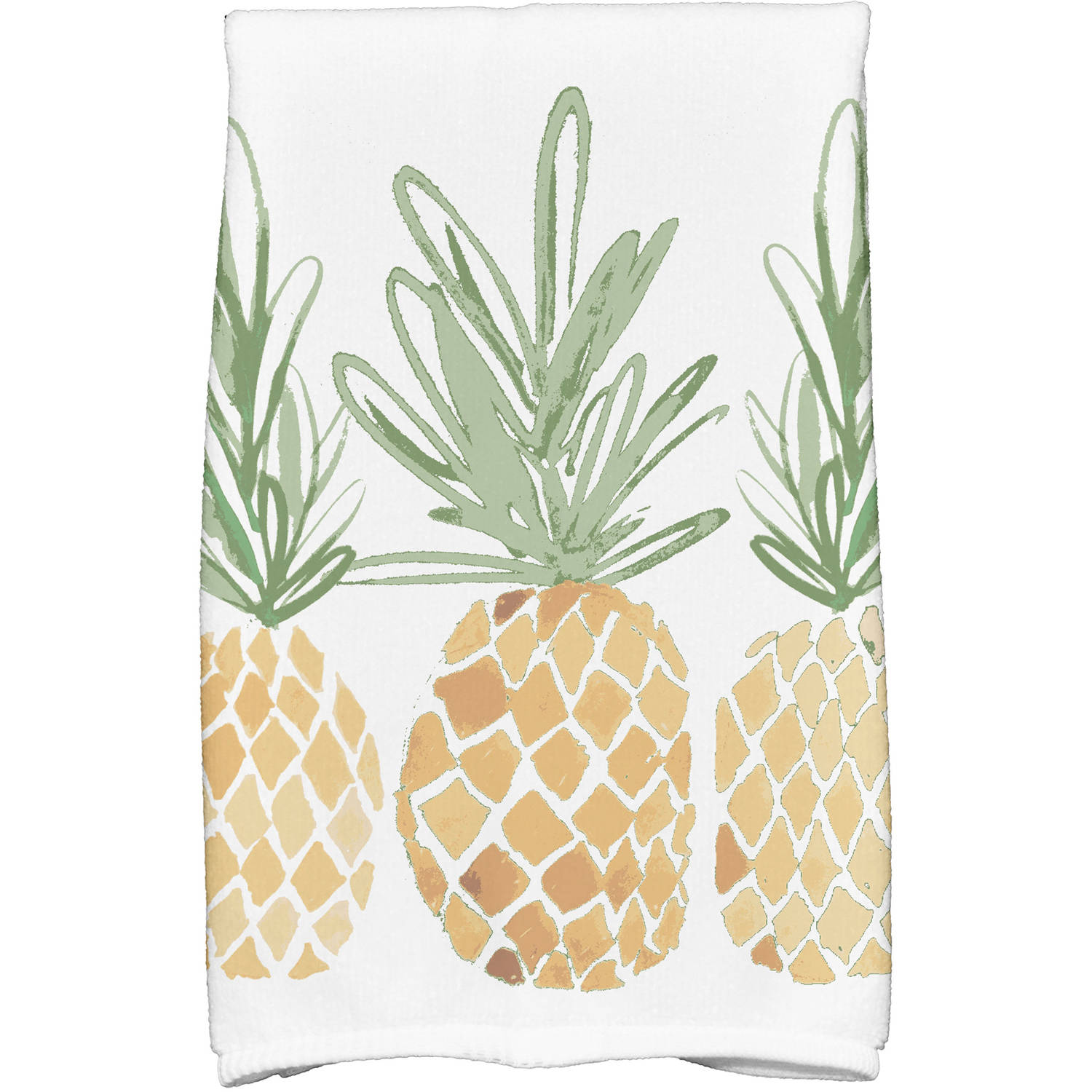 "Simply Daisy 16"" x 25"" Pineapples Geometric Print Kitchen Towel by E By Design"