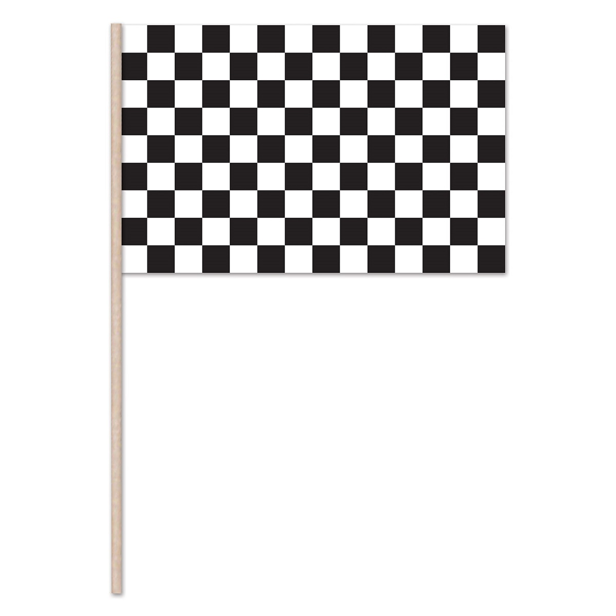 Club Pack of 144 Race Track Themed Black and White Checkered Flag Party Decorations 22""