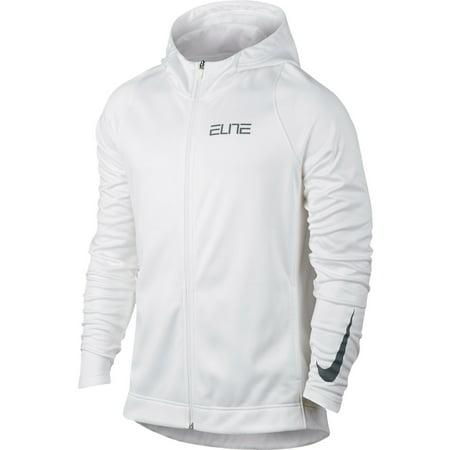Nike - Nike Elite Zip Up Men s Hoody White Grey 776095-100 - Walmart.com e73905a0b940
