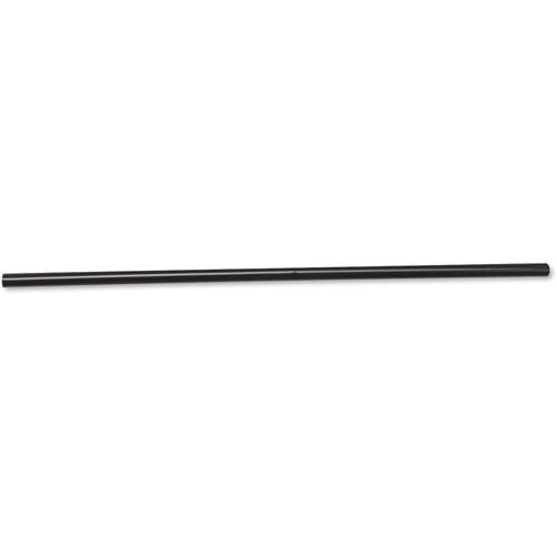 "BoardWalk 285BLKCT Unwrapped Jumbo Straws, 7 3/4"", Plastic, Black, 500/Pack, 24 Packs/Carton"