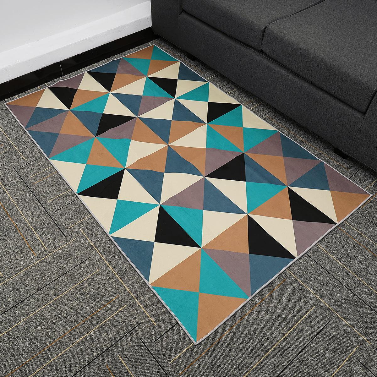 Area Rugs Floor Mat Bedroom Living Room Carpet Modern Printing Geometric Home Walmart Com Walmart Com