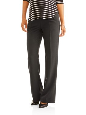 Oh! Mamma Maternity Career Pants with Full Panel and Wide Leg - Available in Plus Sizes