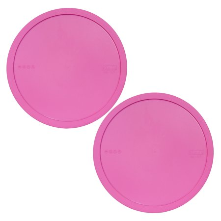 Pyrex Replacement Lid 326-PC Pink Plastic Round Cover (2-Pack) for Pyrex 326 4-Qt Bowl (Sold Separately)