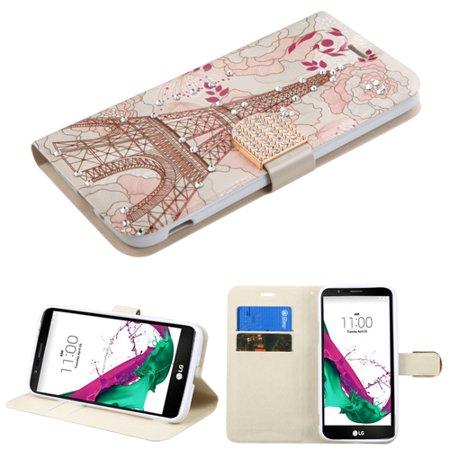 Art Design Portfolio Leather Wallet for LG G5 - Eiffel -