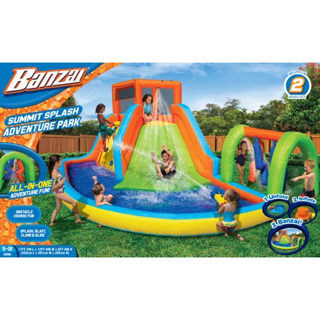 Obstacle Racer (Banzai Summit Splash Adventure Park (Inflatable Water Slides with Cannon and Obstacle Pillars) )