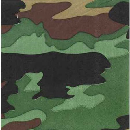 Small Camouflage Napkins Table Decoration Party Supplies Special Events 25 Count - Camoflage Party Supplies