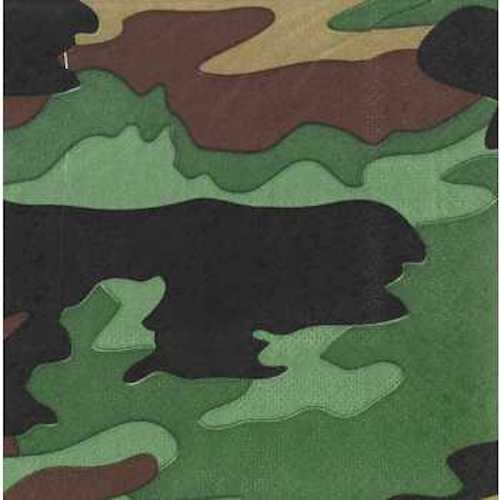 Small Camouflage Napkins Table Decoration Party Supplies Special Events 25 Count