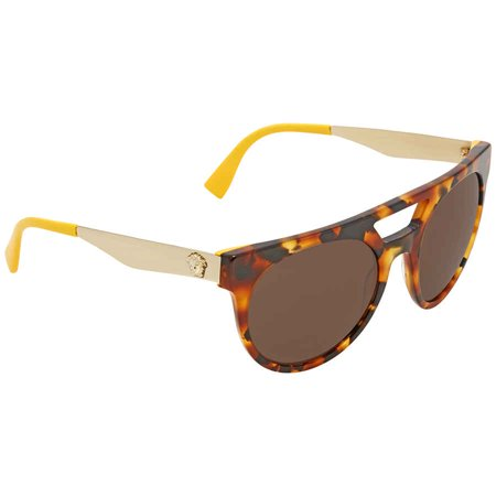 Versace Brown Sunglasses VE4339 524973 (Versace Yellow Sunglasses)