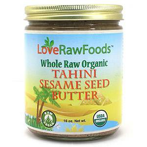Organic Sesame Butter - Love Raw Foods Tahini Sesame Seed Butter - Raw 16 oz.