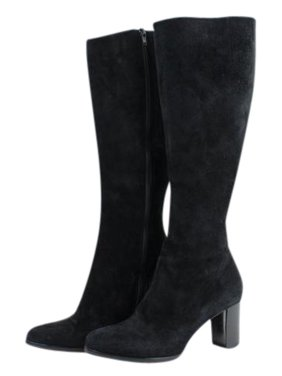 798a7895909 Product Image Christian Louboutin Suede Tall Zip 27clt916 Black Boots