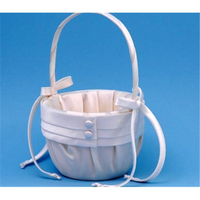Beverly Clark 59VI Audrey Flower Girl Basket - Ivory
