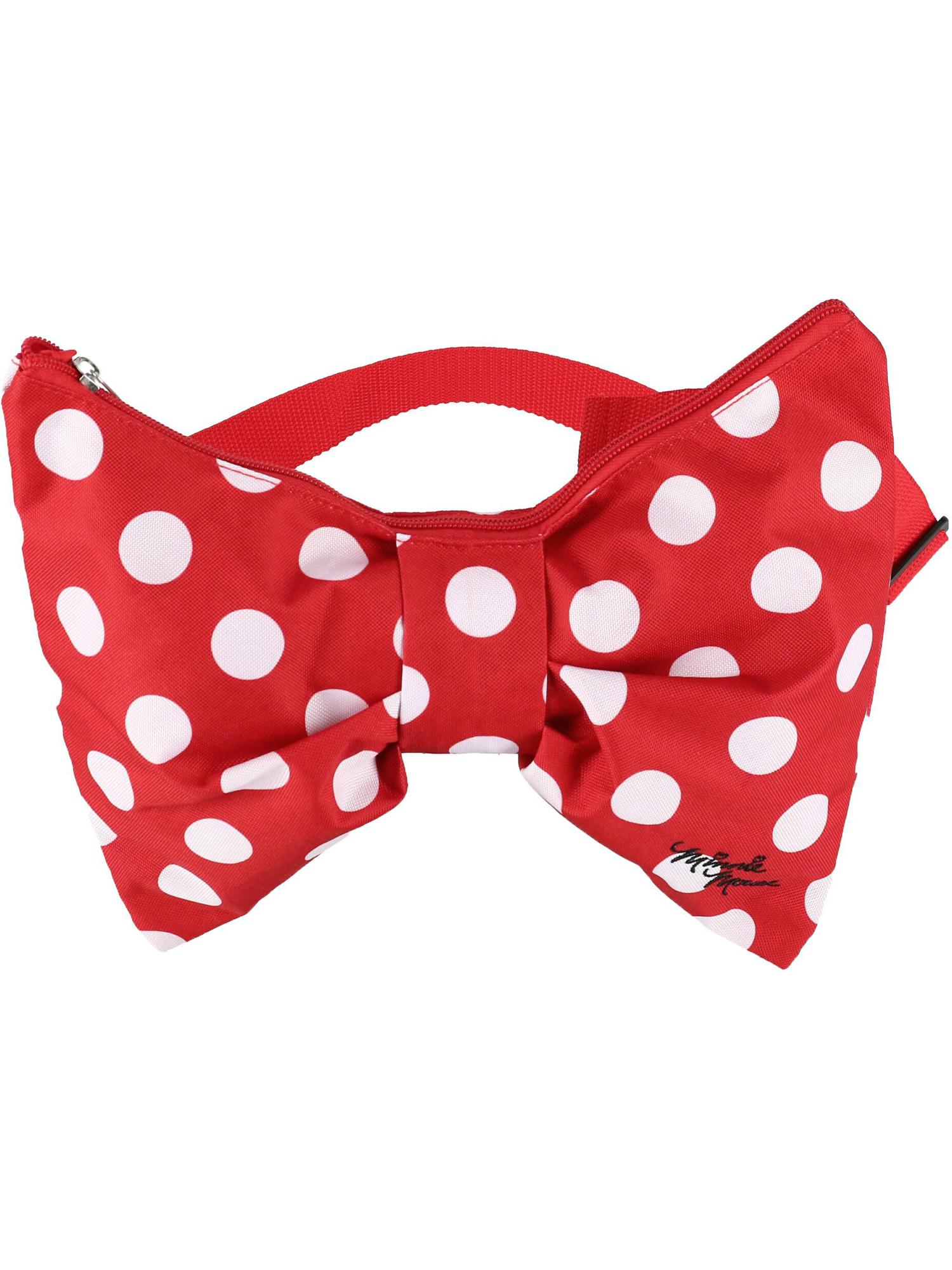 Size one size Minnie Mouse Polka Dot Bow Waist Pack, Red
