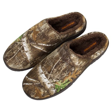 RealTree Men's Memory Foam Camo Moccasin House Slipper Indoor/Outdoor